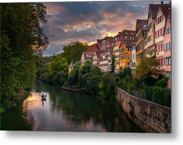 Sunset In Tubingen Metal Print