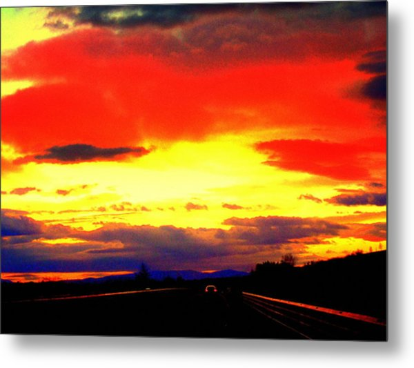 Sunset In Tuscany Metal Print