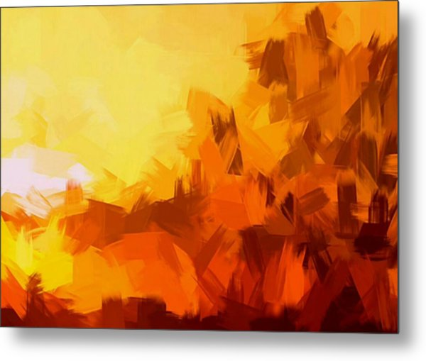 Sunset In Valhalla Metal Print