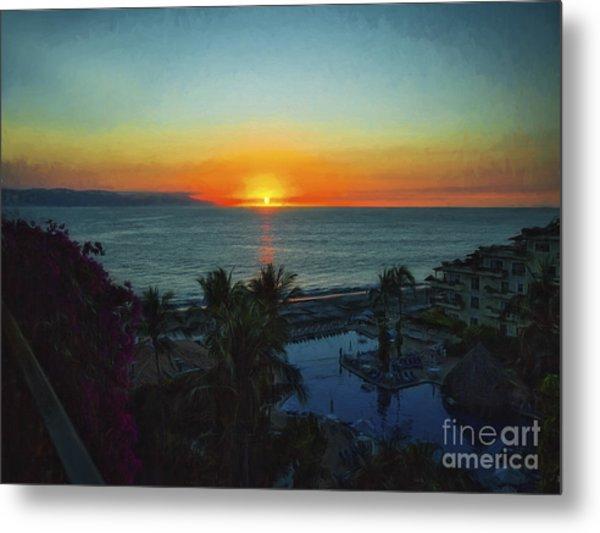 Sunset In Vallarta  ... Metal Print