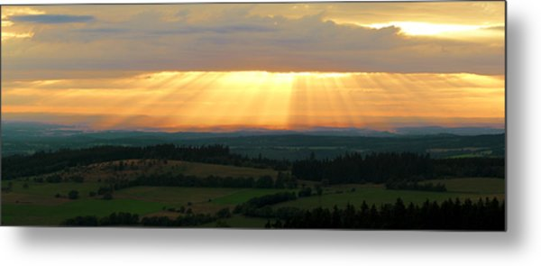 Sunset In Vogelsberg Metal Print