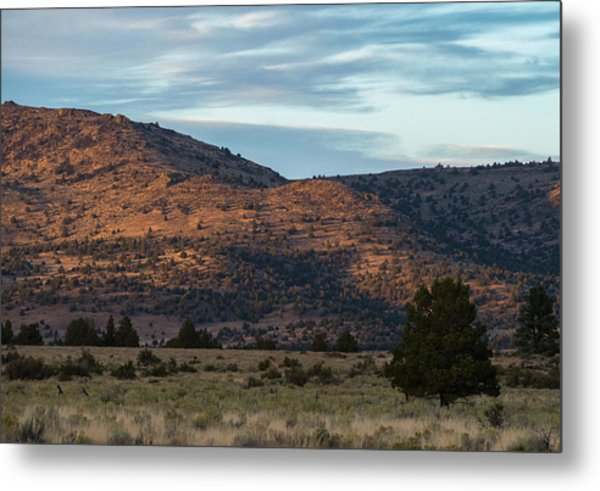 Sunset In Willow Creek Valley Metal Print