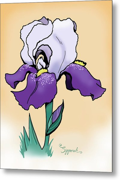 Sunset Iris Metal Print