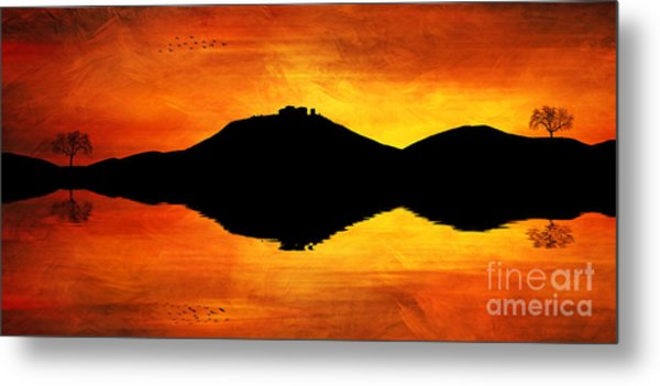 Sunset Island Metal Print