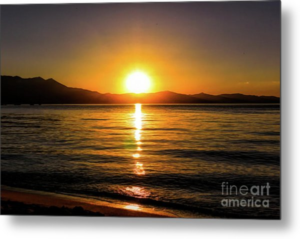 Sunset Lake 1 Metal Print