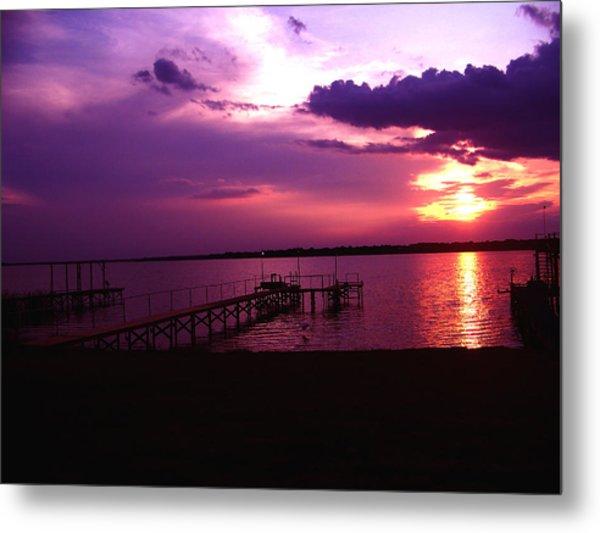 Sunset Lake 2 Metal Print by Evelyn Patrick