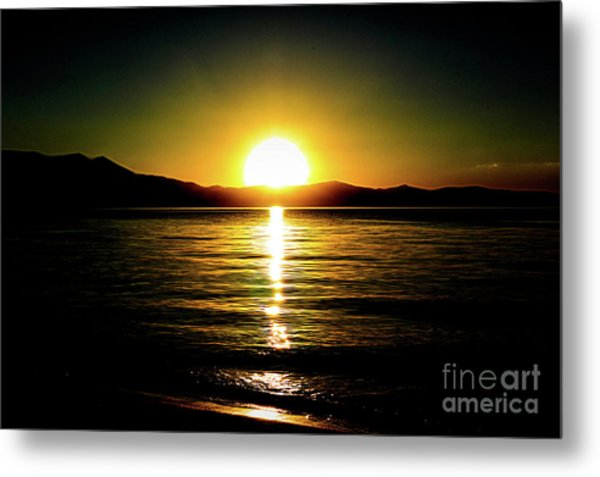 Sunset Lake 2 Metal Print