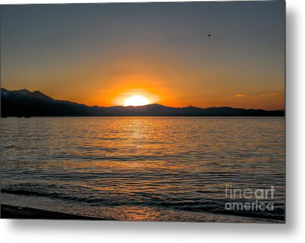 Sunset Lake 3 Metal Print
