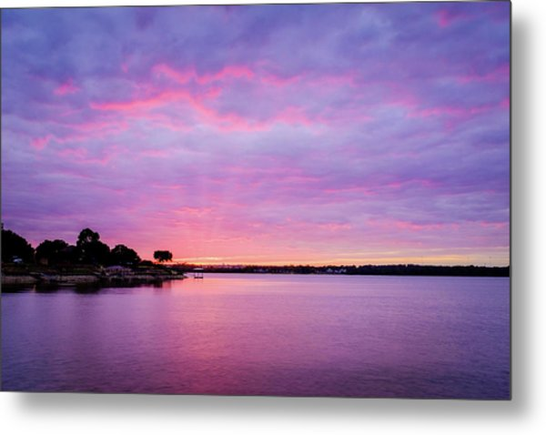 Sunset Lake Arlington Texas Metal Print
