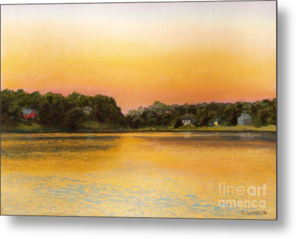 Sunset Lake Metal Print by Joan Swanson