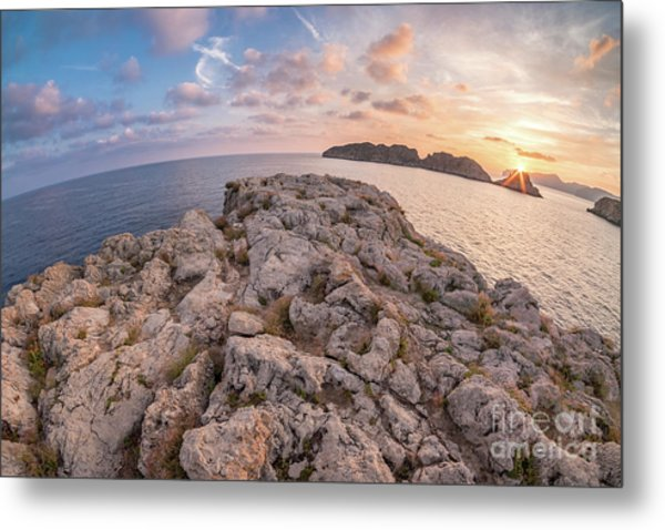 Sunset Malgrats Island Wide Angle Metal Print