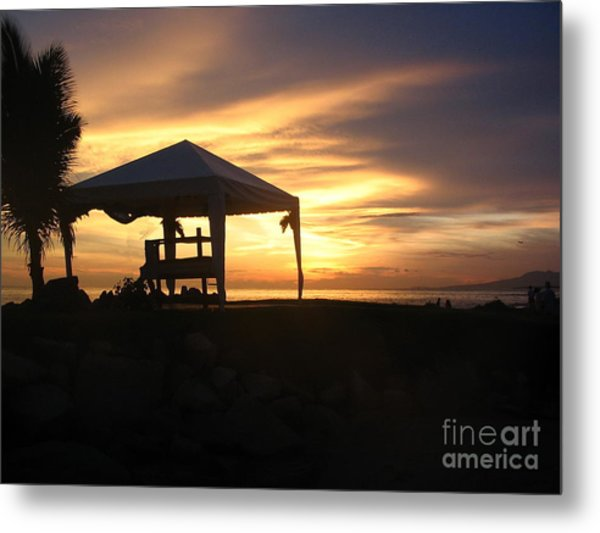 Sunset Massage Metal Print
