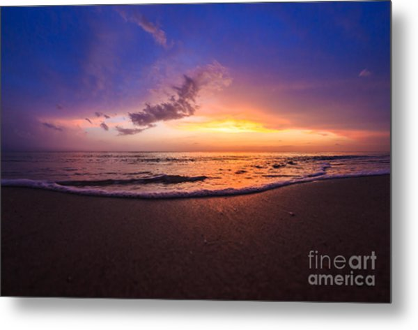 Sunset Naples Beach Florida Metal Print