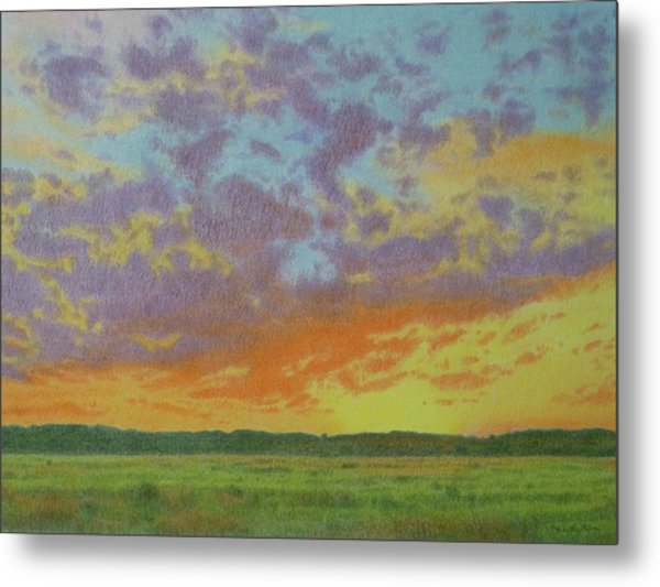 Sunset Near Miles City Metal Print