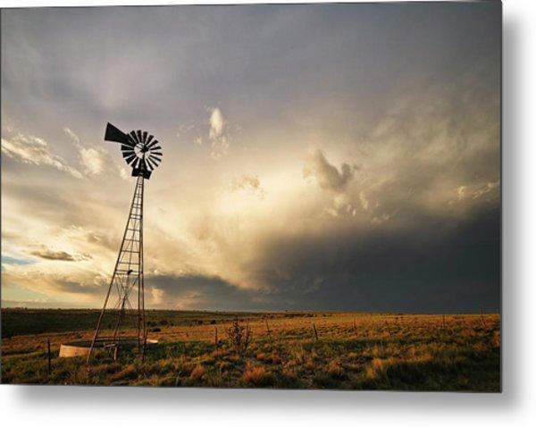 Sunset Near Santa Rosa New Mexico Metal Print
