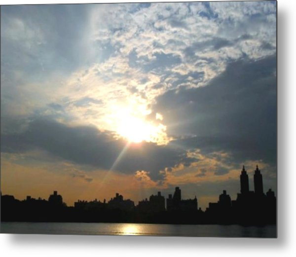 Sunset New York  Metal Print