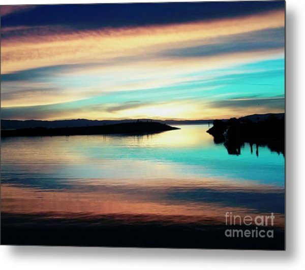 Sunset Noctune Metal Print