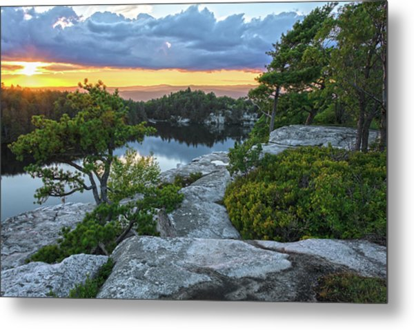 Sunset Of Contentment Metal Print