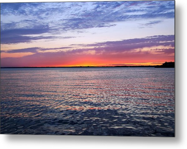 Sunset On Barnegat Bay I - Jersey Shore Metal Print