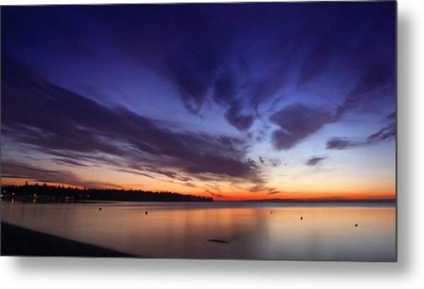 Sunset On Birch Bay 3 Metal Print by Julius Reque