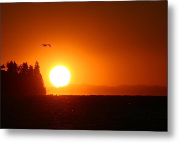 Sunset On Birch Bay Metal Print by Julius Reque