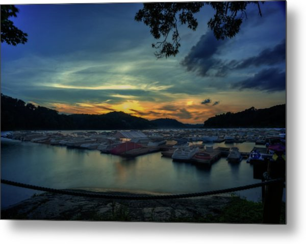 Sunset On Cheat Lake Metal Print