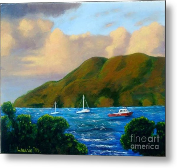 Sunset On Cruz Bay Metal Print