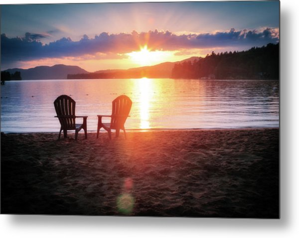 Sunset On Fourth Lake Metal Print