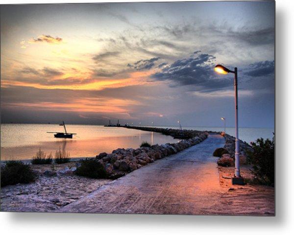 Sunset On Kerkennah Island Metal Print by Aleksey Napolskih