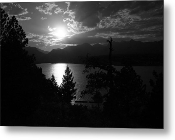 Sunset On Lake Estes Metal Print by Perspective Imagery