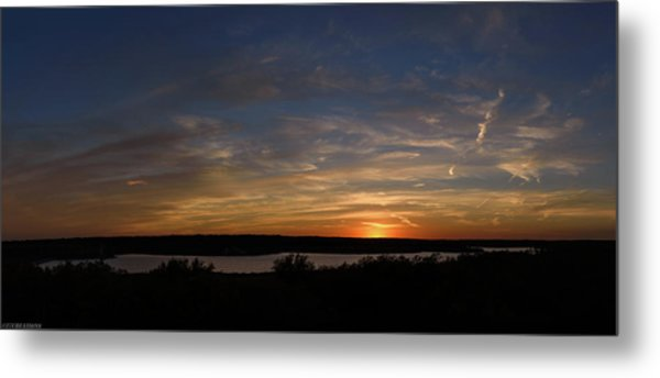 Sunset On Lake Georgetown Metal Print