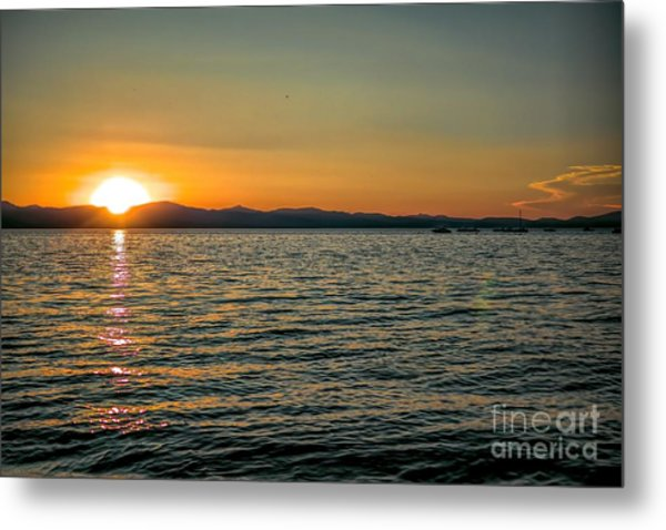Sunset On Left Metal Print