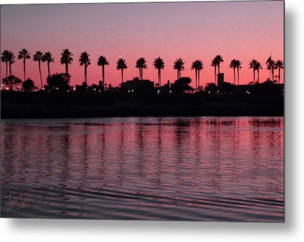 Sunset On Long Beach Bay Metal Print by S Lynn Lehman