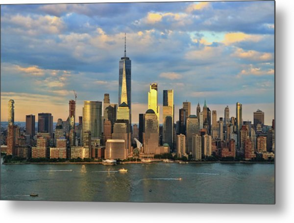 Sunset On Lower Manhattan Metal Print