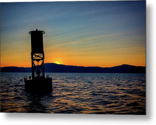Sunset On Penobscot Bay Metal Print