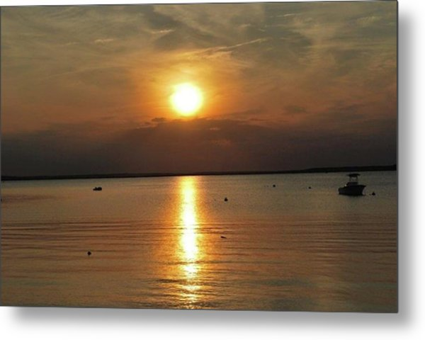 Sunset On Pocasset Metal Print