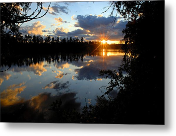Sunset On Polly Lake Metal Print