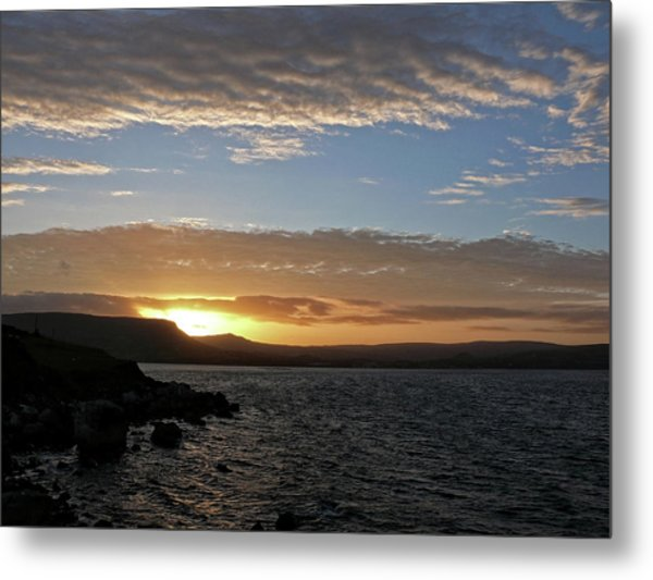 Sunset On The Antrim Coast Road. Metal Print