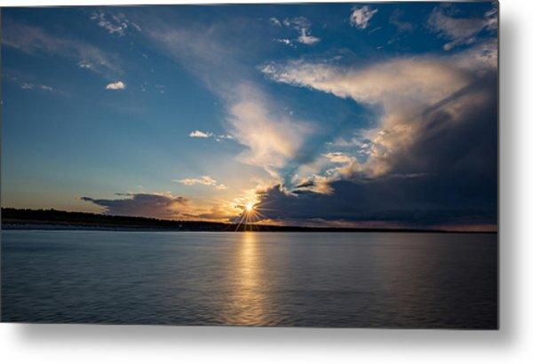 Sunset On The Baltic Sea Metal Print