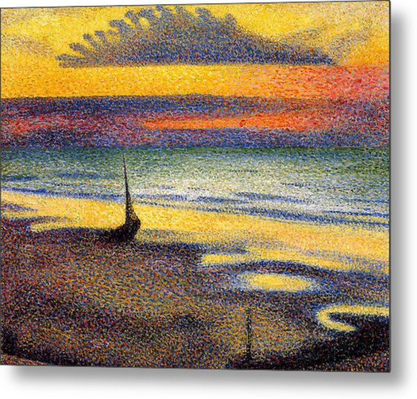 Sunset On The Beach 1891 Metal Print