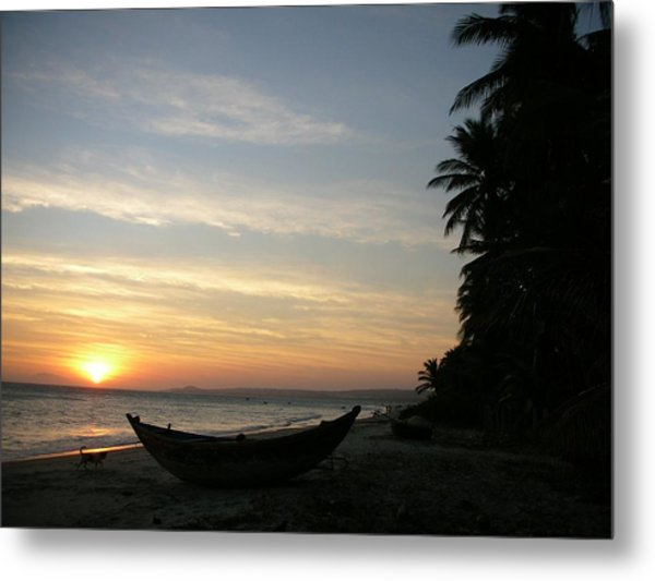 Sunset On The Beach In Vietnam Metal Print