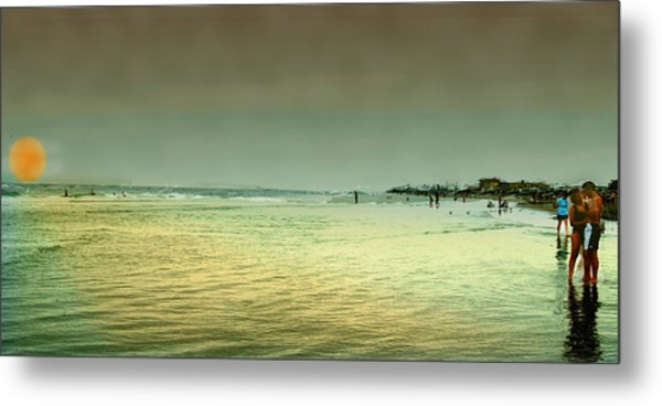 Sunset On The Beach Metal Print by Ken Gimmi