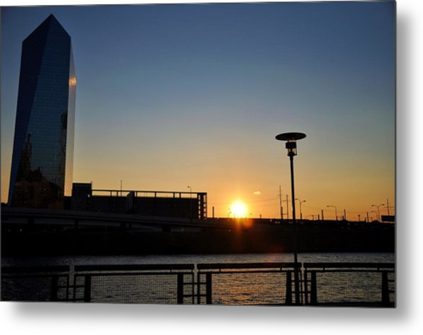 Sunset On The Cira Building Metal Print by Andrew Dinh