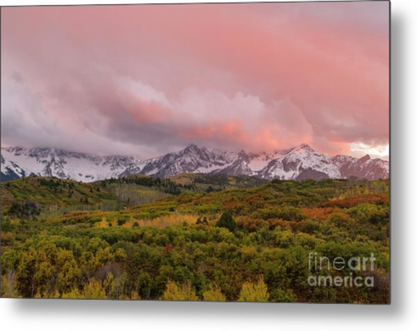 Sunset On The Dallas Divide Ridgway Colorado Metal Print