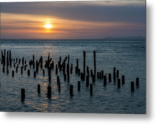 Sunset On The Empire Metal Print