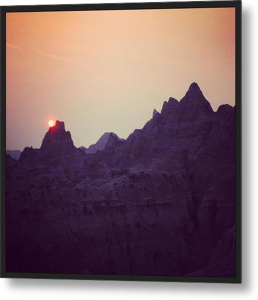 Sunset On The Eve Of The Fourth Of Metal Print