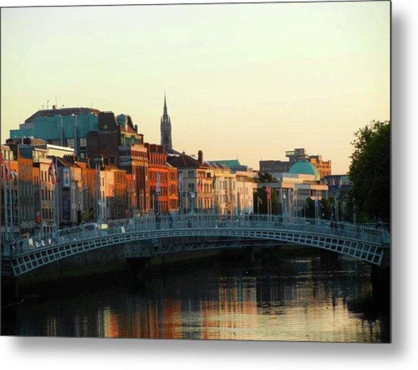 Sunset On The Ha'penny Metal Print