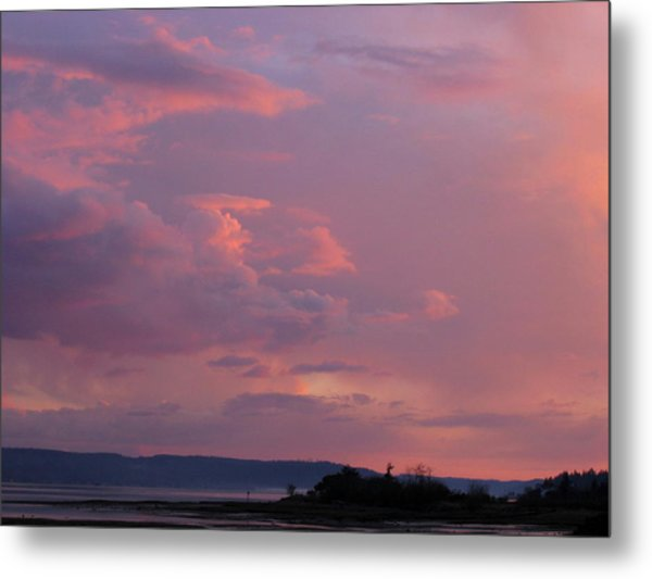 Sunset On The Hood Canal Metal Print