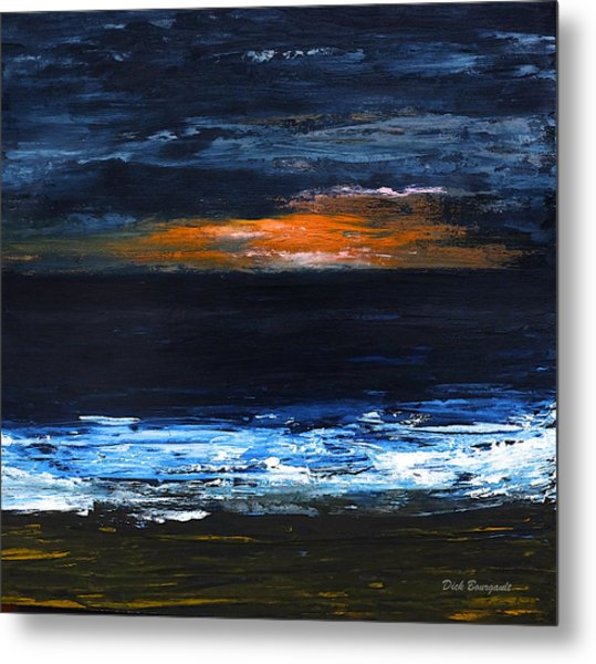 Sunset On The Horizon Metal Print