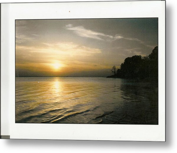 Sunset On The James Metal Print by Anne-Elizabeth Whiteway